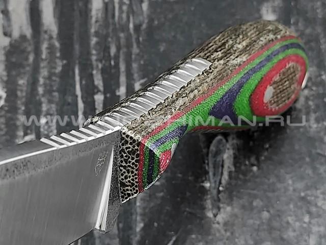 """РВС нож """"Каспер"""" сталь N690, рукоять микарта (3)"""