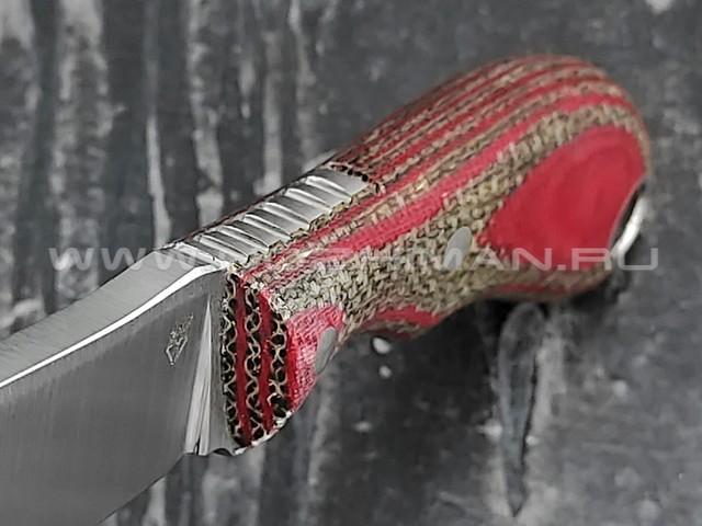 """РВС нож """"Оберег"""" сталь N690, рукоять микарта"""