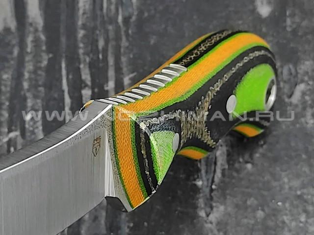 "РВС нож ""Супер двояк"" сталь N690, рукоять микарта"