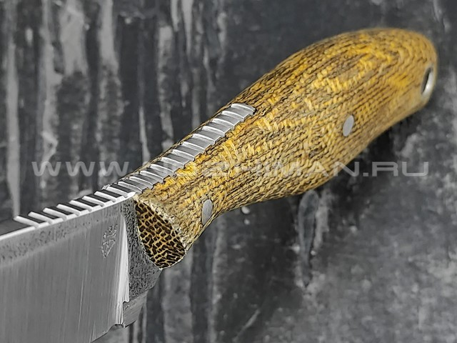 "РВС нож ""Кастор 3.0"" сталь N690, рукоять микарта yellow & brown"