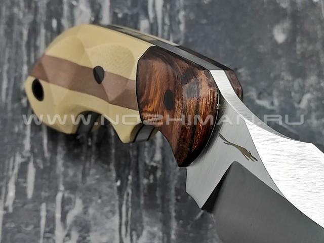 """Волчий Век нож """"Кондрат 8"""" сталь M390 WA, рукоять G10 tan & brown, ironwood"""