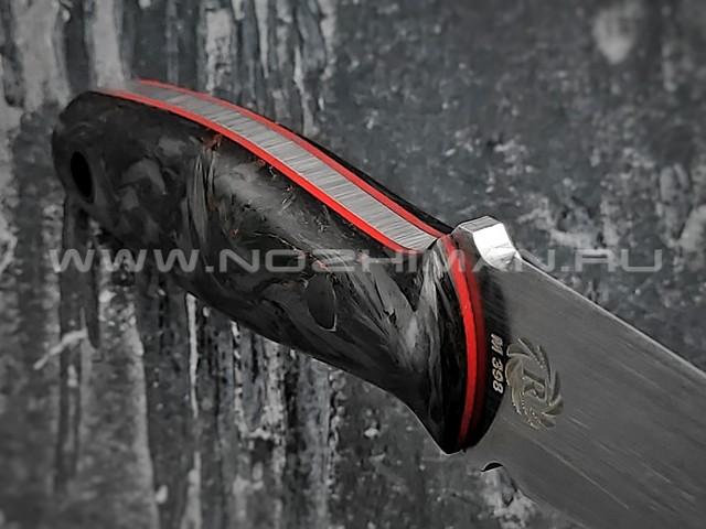 "Neyris Knives нож Tao сталь M398, рукоять хаотичный карбон ""dark matter copper"""