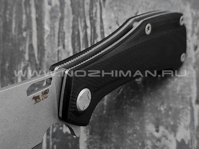 Saro нож Скорпион EVO Wharncliffe сталь K110, рукоять G10 black