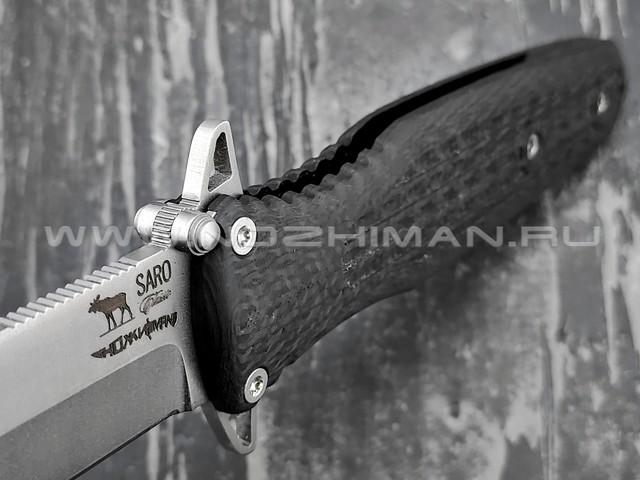"Saro нож Варанг ""Special For Nozhiman"" сталь Elmax, рукоять Carbon fiber"