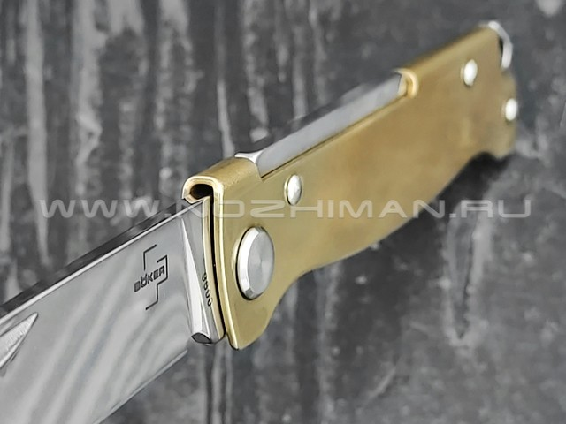 Boker Plus 01BO853 Atlas Brass сталь 12С27, рукоять латунь