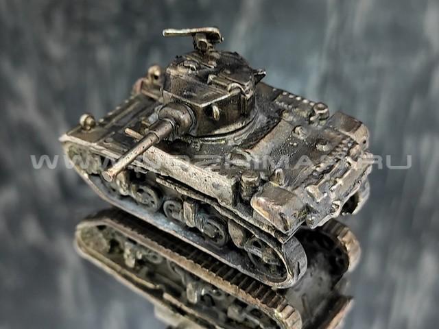 Танк M3 Stuart, латунь, 50 мм