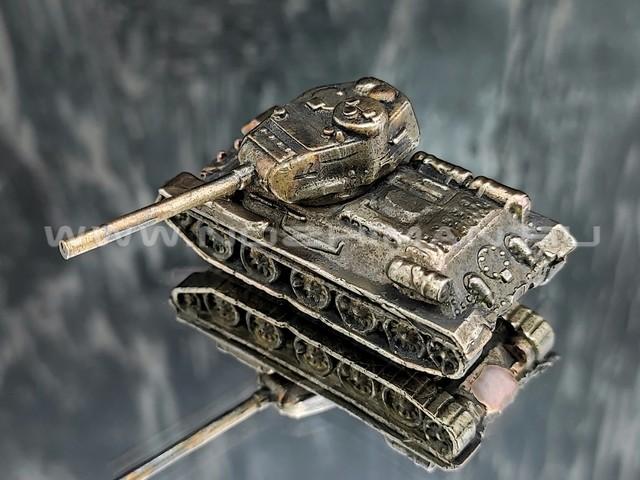 Танк Т-34-85, латунь, 50 мм