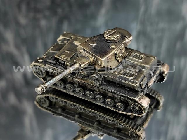 Танк Pz.Kpfw.IV, латунь, 50 мм