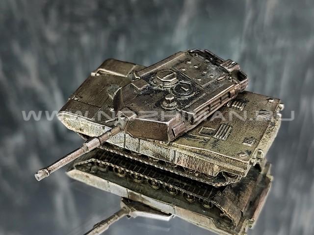 Танк M1A1 Abrams, латунь, 50 мм