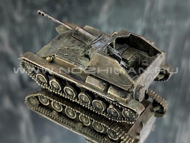 САУ СУ-76, латунь, 50 мм, масштаб 1:100