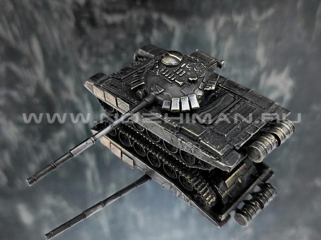 Танк Т-72 Урал, латунь, 75 мм, масштаб 1:100