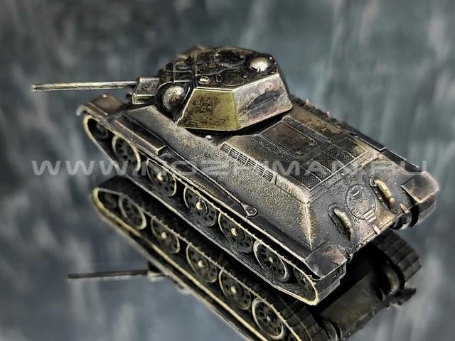 Танк Т-34-76, латунь, 60 мм, масштаб 1:100