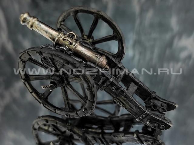 Пушка системы Грибоваля, латунь, 70 мм