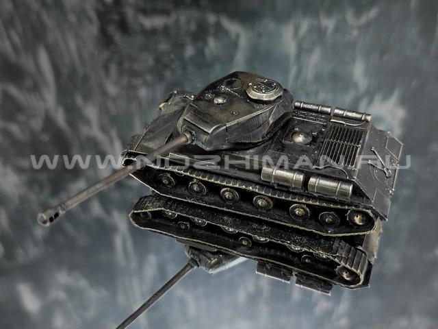 Танк ИС-2, латунь, 70 мм, масштаб 1:100