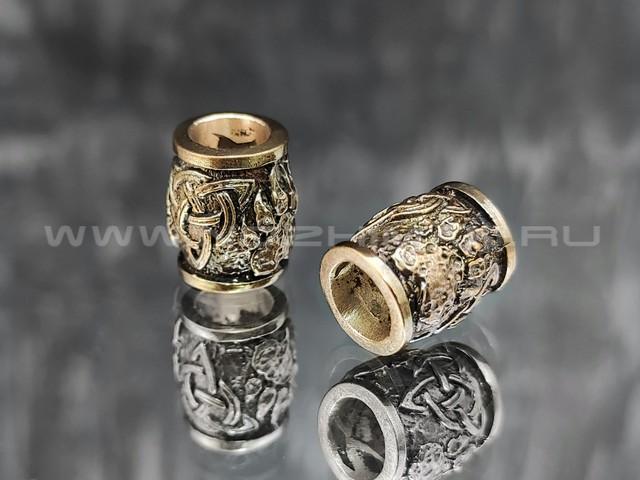 "Бусина ""Велес лапа"" латунь (By Mordor)"