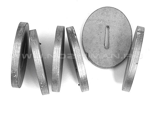 Больстер нержавеющая сталь, 38х30х3.9 мм