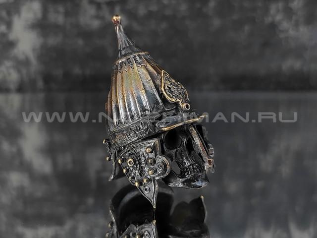 """Бусина """"Ерихонка"""" с черепом, латунь (By Mordor)"""