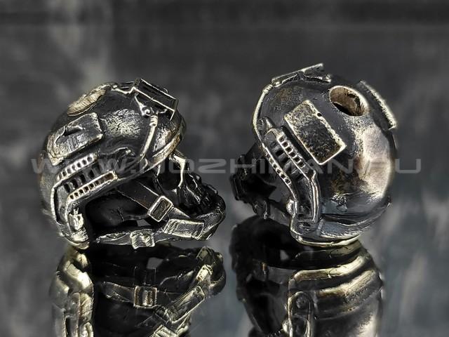 "Бусина ""Ops core"" с черепом, латунь (By Mordor)"