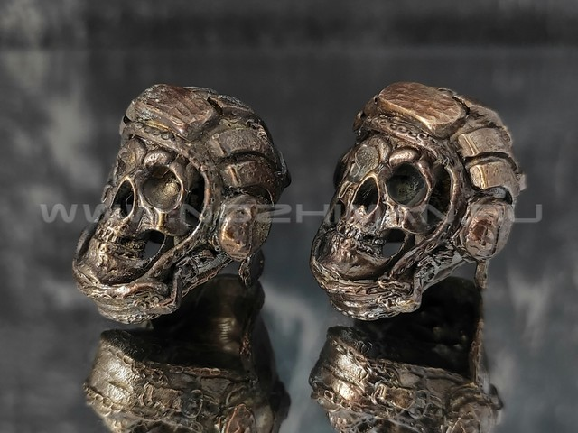 "Бусина ""Шлемофон"" латунь (By Mordor)"