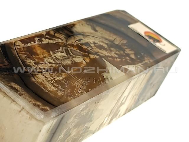 Стабилизированный бивень мамонта RM-06 брусок