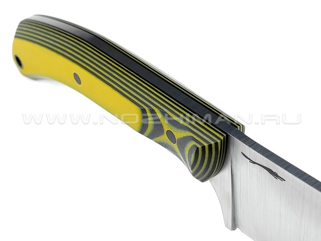 "Волчий Век нож ""Пчак"" сталь Niolox WA, рукоять G10 black & yellow"