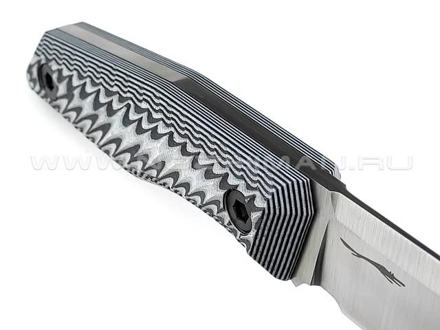 """Волчий Век нож """"BlackBird"""" сталь M390 WA, рукоять G10 black & white"""