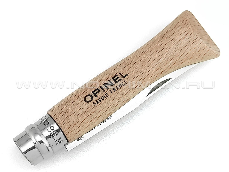 Нож Opinel №6 Inox 123060 сталь Sandvik 12C27, рукоять бук
