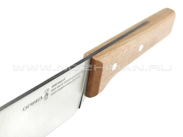Нож Santoku Opinel №119 Parallele 001595 сталь X50CrMoV15, рукоять бук