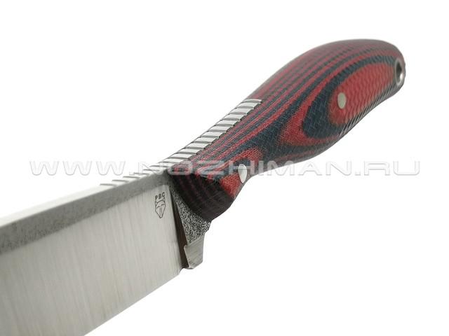 """РВС нож """"Кастор 3.0"""" сталь N690, рукоять микарта navy & red"""