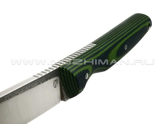 "РВС нож ""Аники"" сталь N690, рукоять микарта black & green"