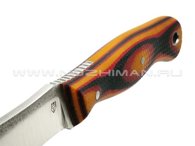 """РВС нож """"Гудкэт М"""" сталь N690, рукоять микарта black, red & orange"""
