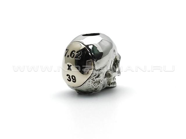 """Бусина """"Skull 7.62"""" нейзильбер, бронза (Wild Heart)"""