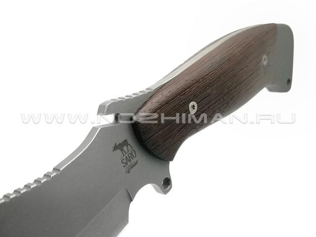 Нож SARO Ворон сталь 65х13, рукоять дерево венге