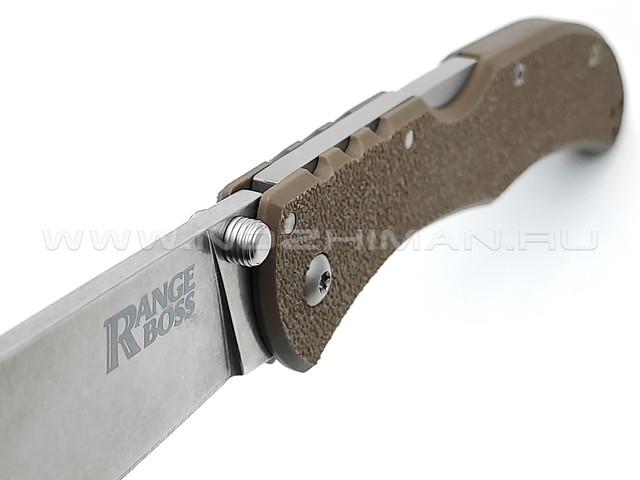 Cold Steel нож Range Boss 20KR7 Flat Dark Earth сталь 4034SS, рукоять Zy-Ex