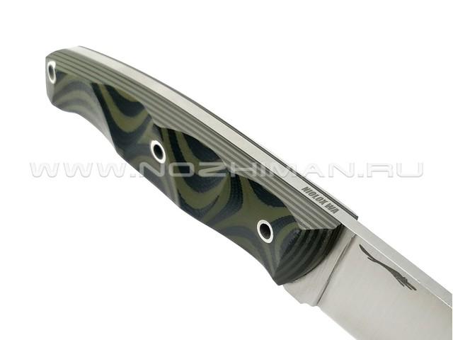 "Волчий Век нож ""Прототип-2"" сталь Niolox WA, рукоять G10 black & green"