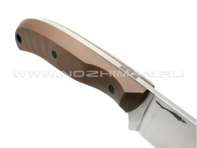 "Волчий Век нож ""Mark-I"" сталь Niolox WA, рукоять G10 brown"