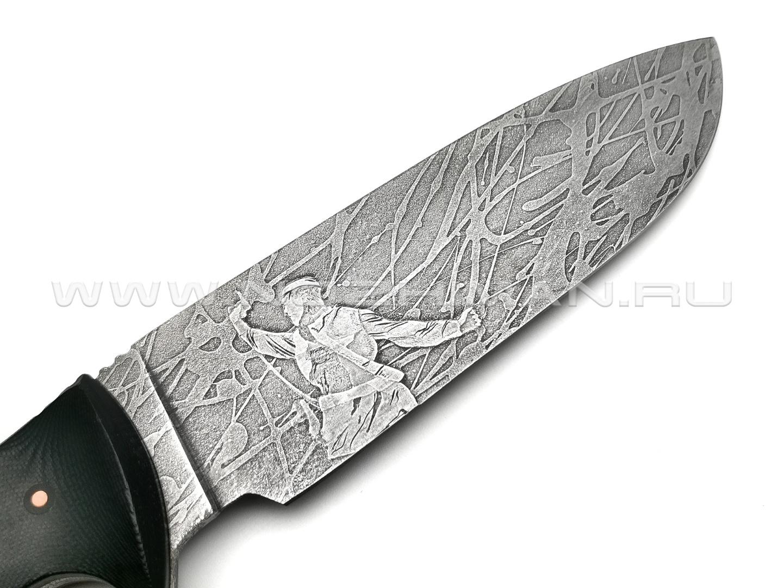 """Волчий Век нож """"Команданте XL - Custom"""" сталь PGK WA, рукоять G10 black"""