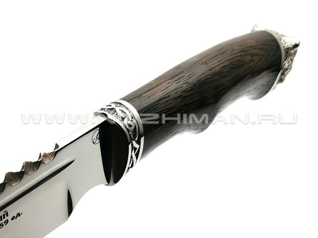 Нож Рэкс сталь 95Х18, рукоять венге, мельхиор (Фурсач А. А.)