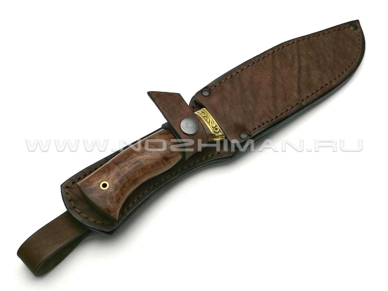 Нож Рэкс сталь 95Х18, рукоять орех, латунь (Фурсач А. А.)