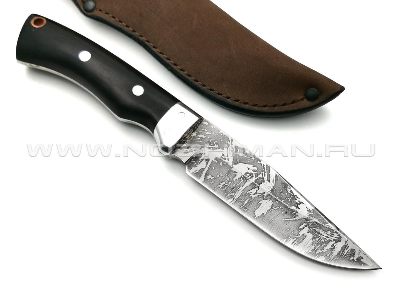 Нож Ворон-ЦМ сталь Х12МФ, рукоять черный граб (Фурсач А. А.)