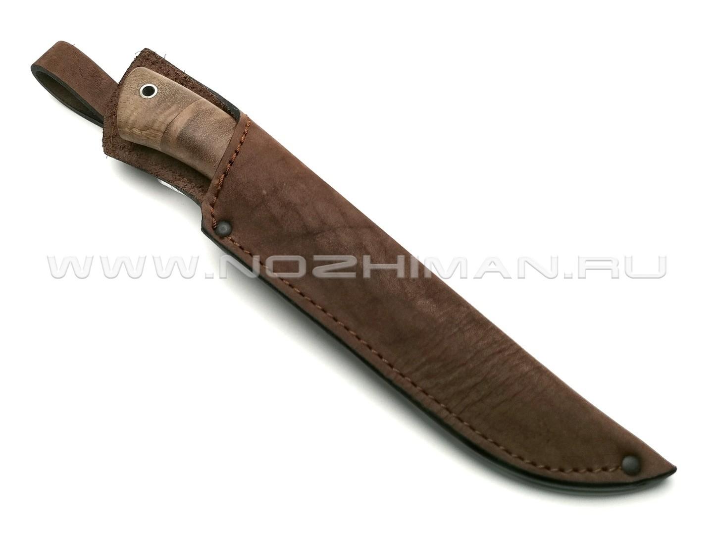 Нож Газель сталь CPM S90V, рукоять кап клёна, мельхиор (Фурсач А. А.)