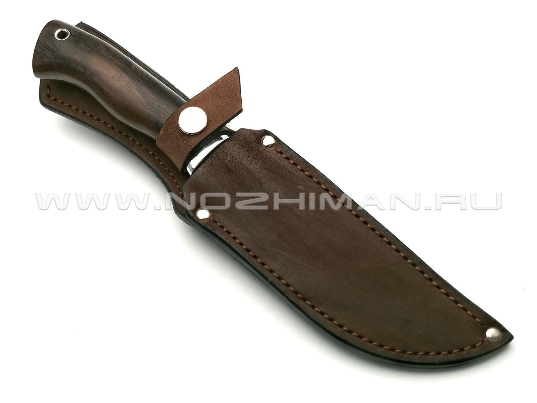 Нож Тигр сталь CPM 10V, рукоять зирикот, мельхиор (Фурсач А. А.)
