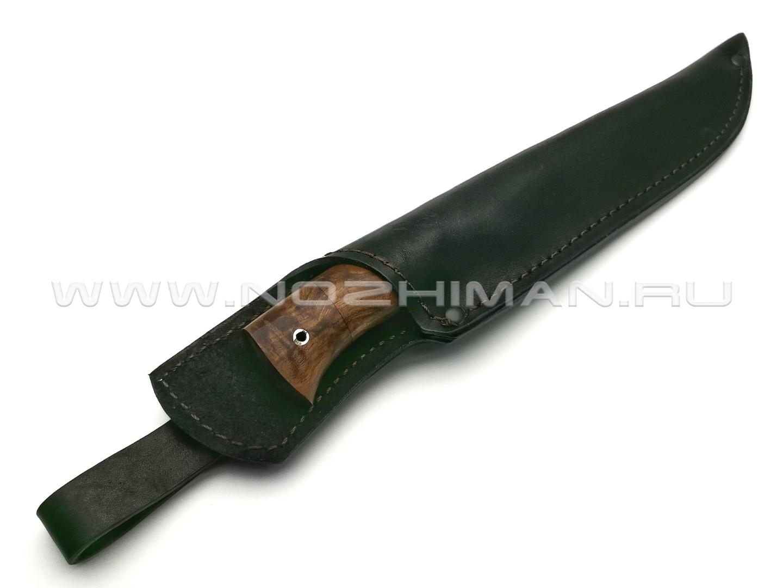 Нож Рысь сталь 95Х18, рукоять дерево орех, мельхиор (Фурсач А. А.)