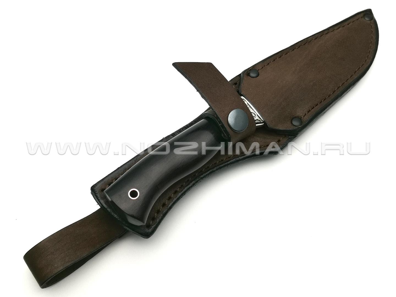 Нож Тигр-М сталь Х12МФ, рукоять граб, мельхиор (Фурсач А. А.)