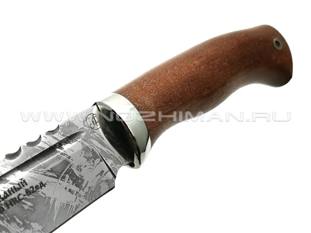Нож Сокол сталь Х12МФ, рукоять сапеле, мельхиор (Фурсач А. А.)