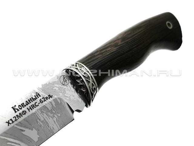 Нож Осётр сталь Х12МФ, рукоять венге, мельхиор (Фурсач А. А.)