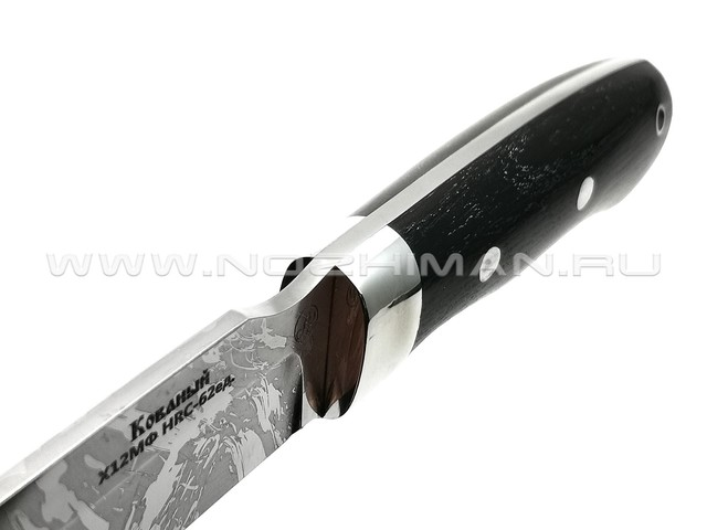 Нож Рысь-ЦМ сталь Х12МФ, рукоять черный граб (Фурсач А. А.)