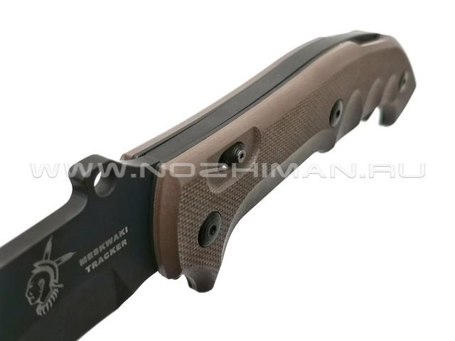 Нож Fox Meskwaki Tracker FX-501 сталь N690Co, рукоять G10 Earth