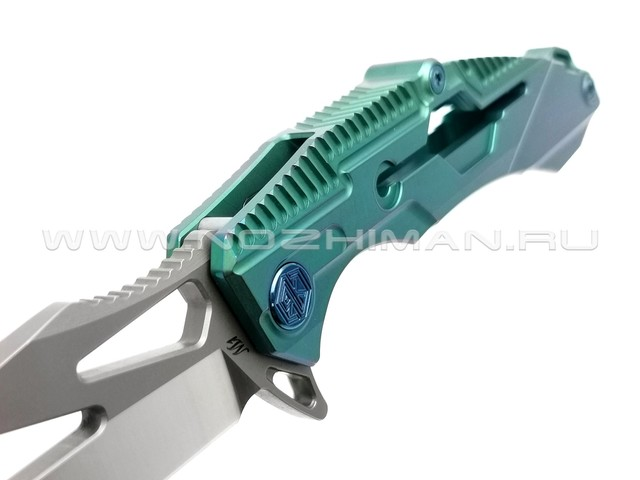 Rike Knife нож RK M1-G сталь S35VN, рукоять 6AL4V Titanium Green