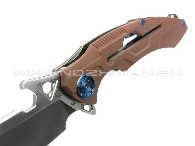 Rike Knife нож RK M3-KBG сталь 154CM, рукоять 6AL4V Titanium, G10 Khaki